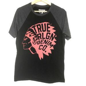 True Religion Logo Raglan Shirt Mens S